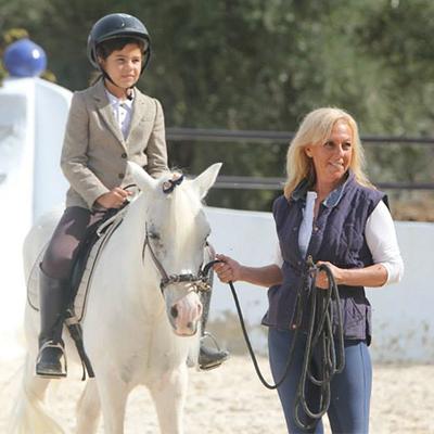 Monitora de equitación Paloma Ferrando